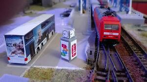 Bahnhofsuhr Spur TT |  Reklametafel | Werbetafel |1:120 | Bausatz