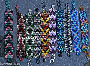 - Indianer - Glasperlen Armband Verschiedene Muster - Peru - Handarbeit Starker Widerstand Gegen Hitze Und Starkes Tragen