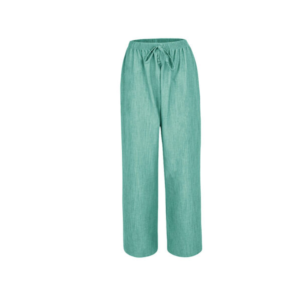 7ca4789cc9f New Ladies Women Pull On Summer Linen Look Wide Leg Trousers Plus Size 12-24