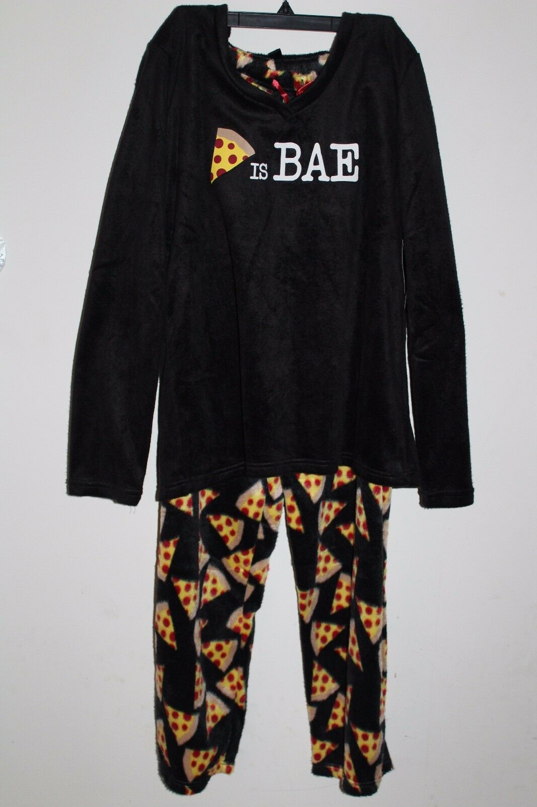 NEW Women's XL harve benard fleece Pizza pajamas