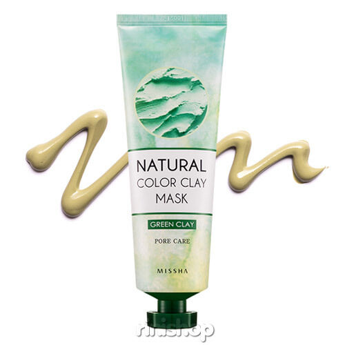 [MISSHA] Natural Color Green Clay Mask Pack Sebum & Pore 137g Rinishop