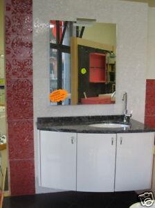 Mobile bagno Giada bianco 3 ante lavabo top marmo nero | eBay