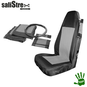 Front-Seat-Cover-Set-Jeep-Wrangler-YJ-1987-1995-Black-amp-gray
