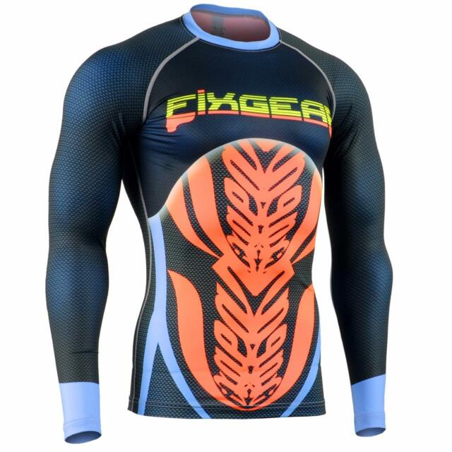 FIXGEAR CFL-F72 Compression Shirts Fluorescence Color MMA Workout Crossfit Yoga