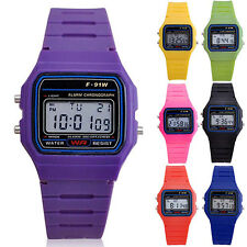 Men Women Electronic LED Digital Multifunction Plastic Sport Wrist Watch Cheaply