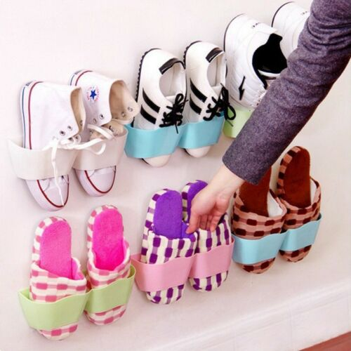 Home Wall Door Mounted Shoes Rack Hanging Shelf Shoes Storage Holder Reusable