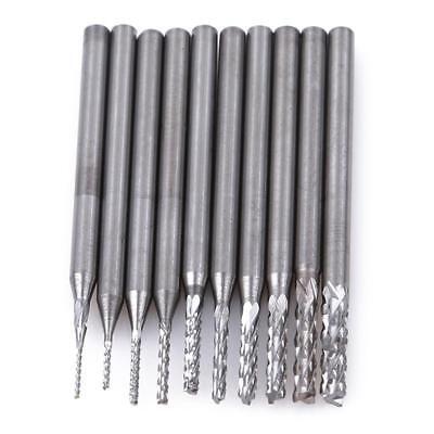 10Pcs Tungsten Carbide Cutter Rotary Burr Set Engraving Bit 0.5-2.3mm Lin