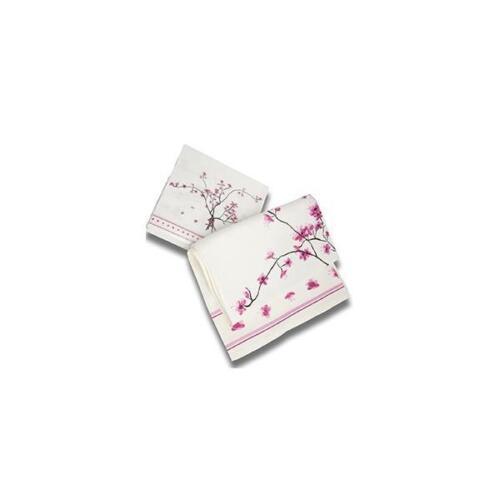 20er Pack servilletas Cherry Blossom flores del cerezo blanco rosa 33x33cm tealogic