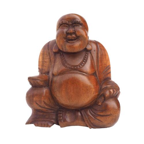 Fair Trade Medium Wooden Laughing Buddha
