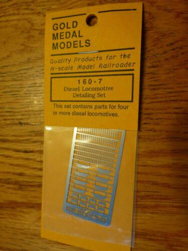 Gold Medal Models N #1607 Diesel Locomotive Detail Set Etched Stainless Steel