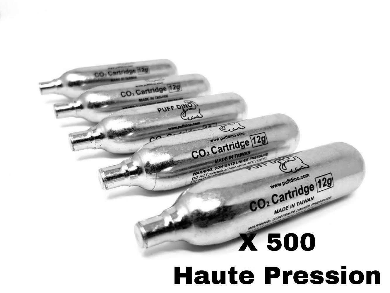 500 X Co2 PUFF DINO CO2 Cartouches Co2 Airsoft 12g Première Marque Vérins Haute