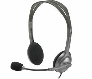Logitech-3-5mm-Jack-Wired-H110-Stereo-Over-Ear-Headphone-Headset-With-Mic-for-PC