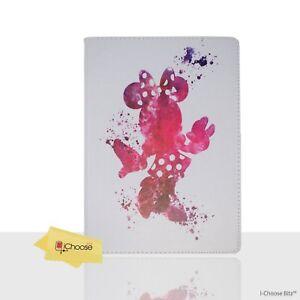 Disney-Fan-Art-PU-Leather-Case-for-Apple-iPad-2-3-4-Folding-Folio-Cover-Minnie