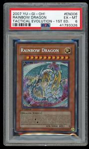2007-YU-GI-Oh-TAEV-EN006-Rainbow-Dragon-1st-Edition-PSA-6-EX-MINT-Secret-Rare