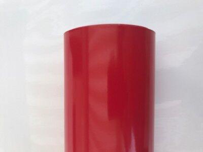 Film vinyle rouge brillant thermoformable /&évacuation des bulles d/'air 50 x 50cm