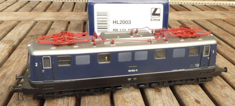 LIMA HL 2003 Elektrolok BR 110 004-9 stupito DB ep.4, imballo originale con DSS, BW Norimberga