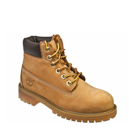Timberland Youth Wheat Premium 6 Inch Nubuck Leather Boots Kids Winter Shoes