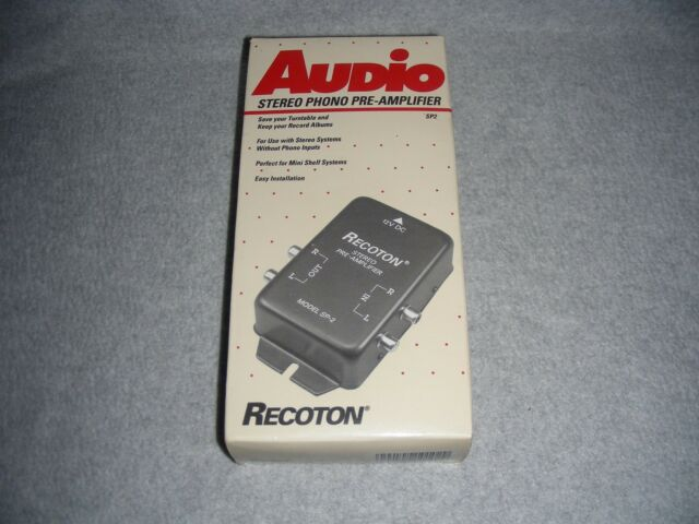 Recoton SP-2 Stereo Phonograph Preamplifier Discontinued by Manufacturer