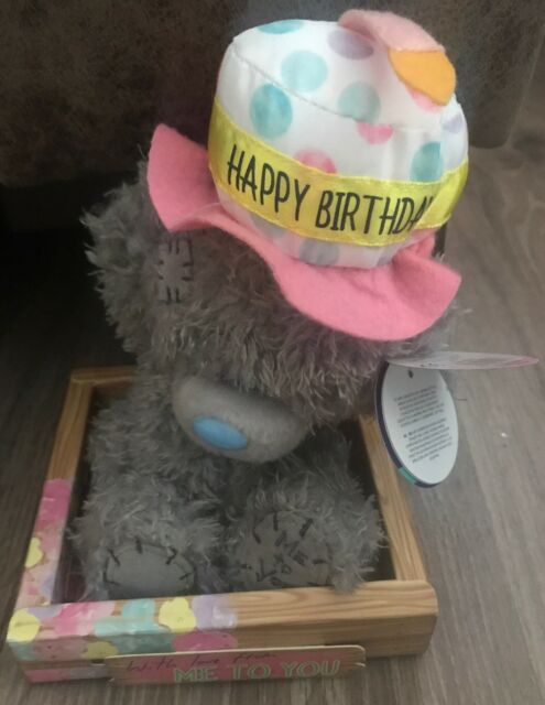 Me To You 7 Happy Birthday Cake Hat Plush Bday Gift In Box