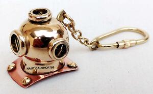 Nautical-Diving-Helmet-Key-Chain-Vintage-Maritime-Divers-Helmet-Key-Ring