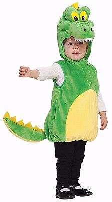 Childs Alligator Costume Plush Mascot Green Crocodile Jumpsuit Toddler Boys Kids