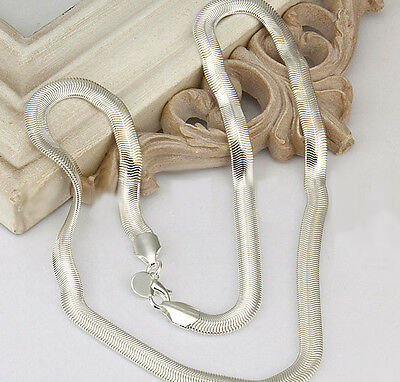 Hot sale Free shipping solid silver 6mm snake chain 16-24 inches necklace NWT