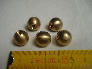 2 boules en laiton diamètre 14 mm (lot de 2) pied, fin de lustre, brass balls