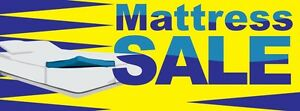 3ft x 8ft Mattress Sale (ylw) Vinyl Banner -Alt to Banner Flag 3'x8' (0052)