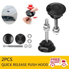 30mm Push Button Quick Release Black Bonnet Pins Lock Clip Car Bumper Latch Kit