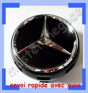 4-x-nouveau-modele-centre-de-roue-Mercedes-Benz-AMG-cache-moyeu-jante-NOIR
