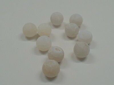 30pcs x 6mm Natural white Effloresce beads