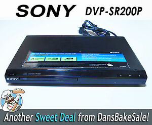 sony dvp sr200p cd dvd player multi channel progressive scan rh ebay com Sony DVD CD Player Combo Sony Mini DVD CD Player