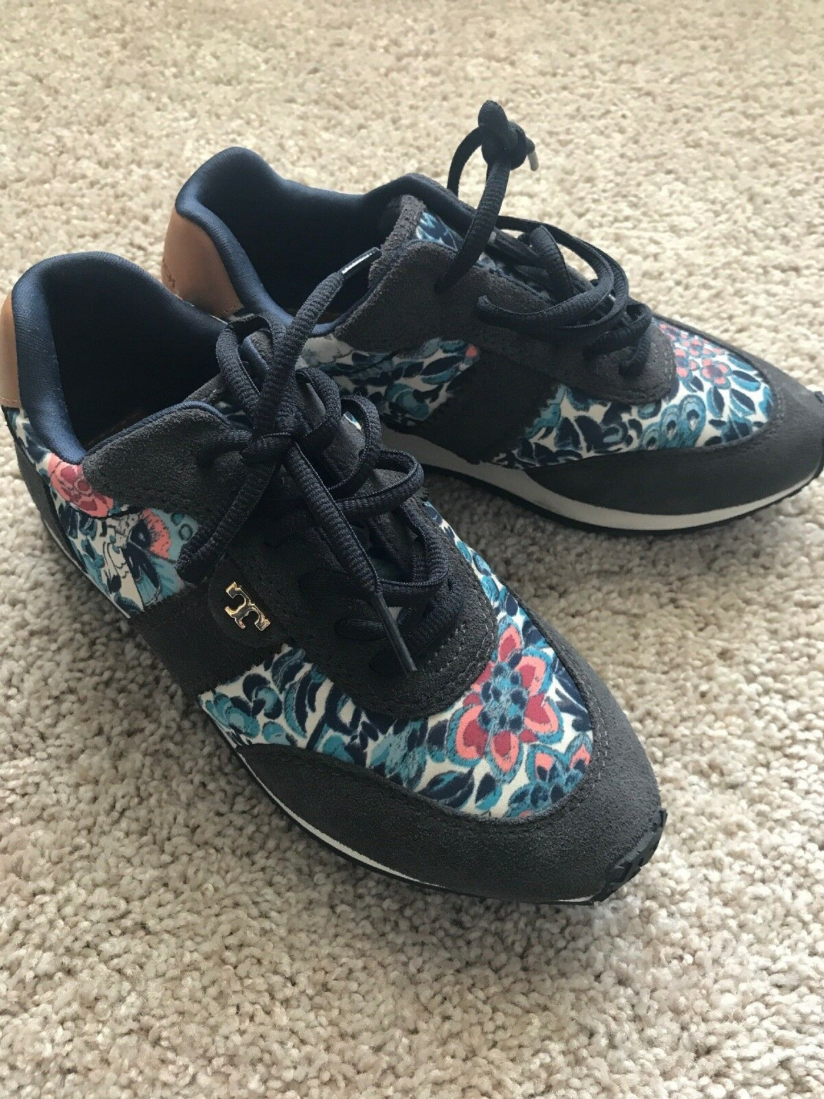 Authentic Tory Burch Floral Sneakers shoes 6