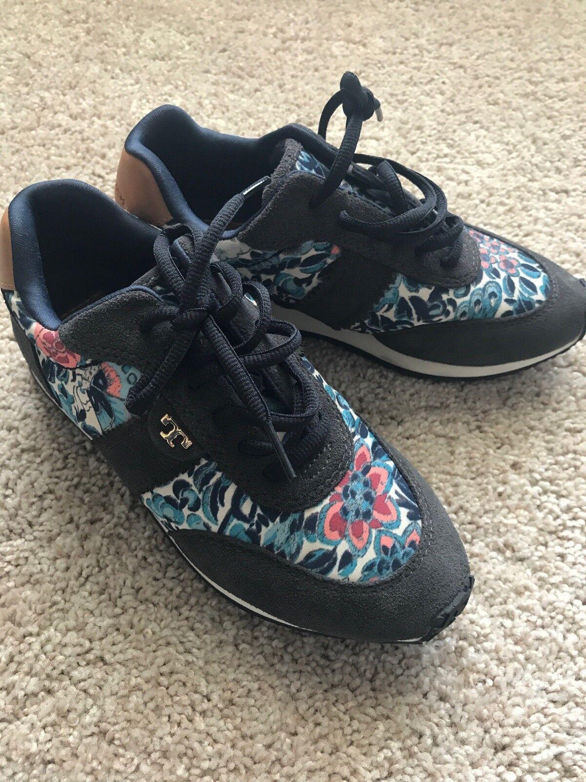 Auténtico Tory Burch Floral Floral Floral Tenis Zapatos 6  punto de venta en línea