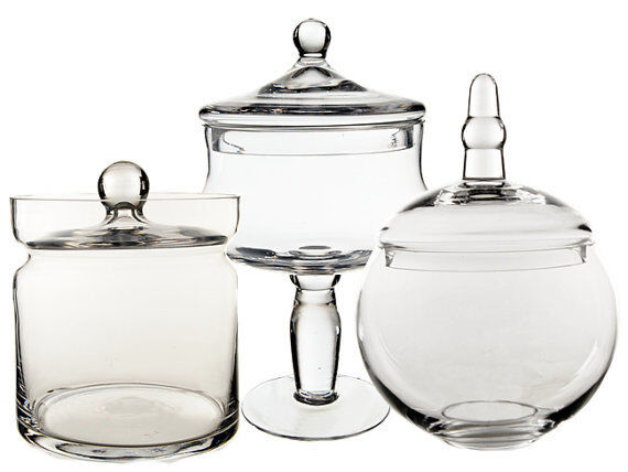Apothecary Glass Candy Buffet Jar With Lid Set Of 40 Wedding Floral Simple Candy Buffet Jar Decorations