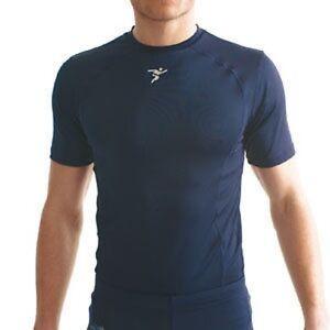 Base-Layer-Short-SleeveT-Shirt-Navy-Blue-Medium-38-40-034-Training-Football-Rugby