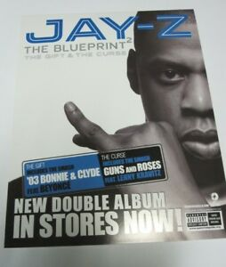 Jay z 2002 blueprint 2 rare static cling sticker flawless new old image is loading jay z 2002 blueprint 2 rare static cling malvernweather Image collections