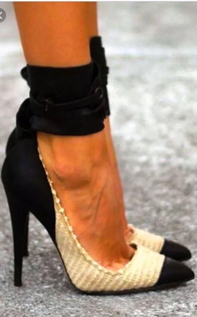 Isabel Marant Black Gava Raffia Gwen Raffia Gava Pumps Heels 40 New In Box 8f2f0f