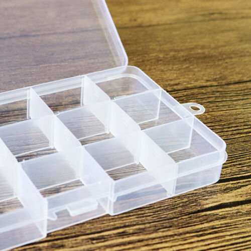 10-24 Compartment Small Organiser Storage Plastic Box Craft Nail Art Fuse Beads
