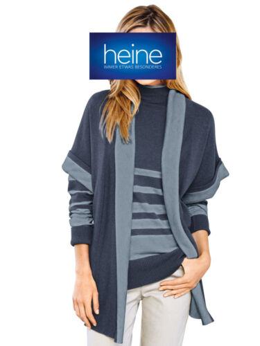 NEU!! Heine mit Cashmere Blau meliert KP 59,90 € SALE/%/%/% Long-Strickjacke B.C