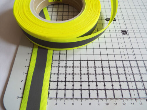 Reflective Tape Width Sew on Visibility Multicolour 1 m 30 mm