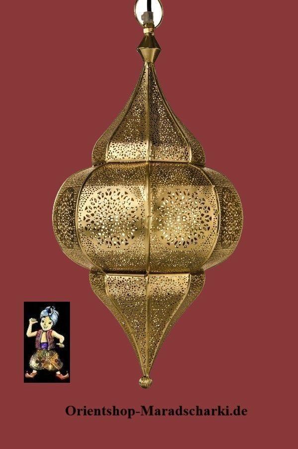 Orientalische Marokkanische Arabische Hängeleuchte Deckenlampe Gold Nr.107G NEU