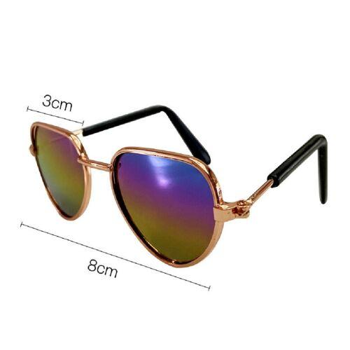 Bambole accessori Occhiali da sole in metallo arcobaleno bicchieri per 36 a 45 CM BAMBOLE