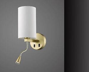 Luce per letto lampada da scrivania ottone oro applique parete con