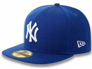 New Era NY New York Yankees Cap Royal Blue Blue MLB 5950 Basic ... 2ffcc504abb