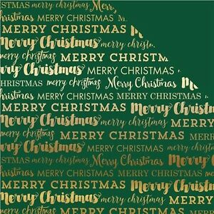 Echo Park Paper Merry Christmas Foil Double-Sided Cardstock - 437853
