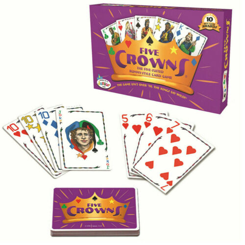 1 Set Five Crowns Card Game Classic Original Family Party Rummy Card Game Poker