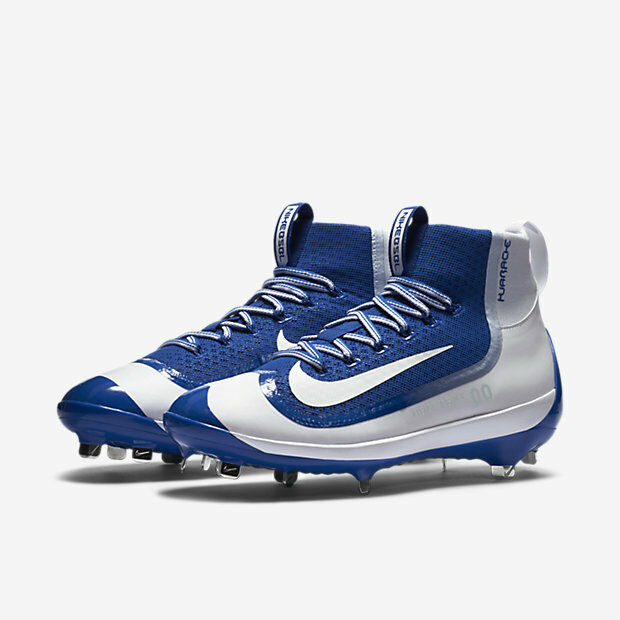 low priced 752e0 77276 Nike Air Huarache 2k Filth Elite Mid Metal Baseball Cleats Blue Size 11 for  sale online   eBay