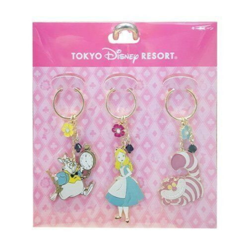 Alice key chain set Tokyo Disney Resort Limited of the country in Wonderland F//S