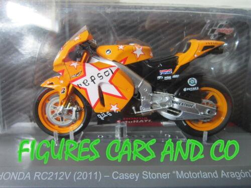 MOTO GP 1//18 HONDA RC212V  CASEY STONER MOTORLAND ARAGON  2011 COLLECTION ALTAYA